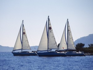 Flotilla - old style, with much scope for collisions!