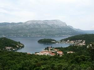Uvala Banja: The bay on an unusually overcast day