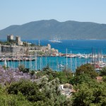 Bodrum: Panoramic view with the Crusader Castle centre and the Marina right
