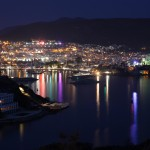 Bodrum: The Castle and harbour by night