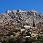 Chalki: the Crusader Castle at the now largely uninhabited village of Horio.