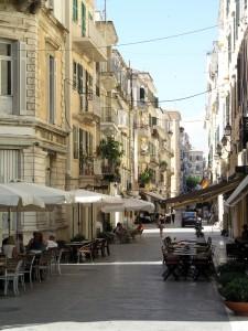 Corfu: A typical street
