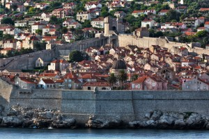 Dubrovnik: The old walled city from the south