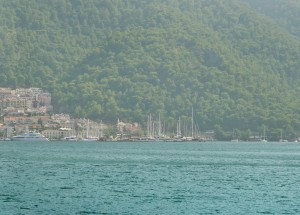 Fethiye: Panorama pt 5, the marina, looking towards the entrance