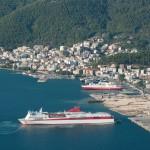 Igoumenitsa: The port with the yacht harbour far left