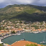 Vathi (Ithaca): The yacht quays in the south corner