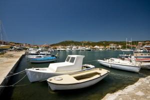 Jezera: The village still has its fishing boats though the bay has been turned into a marina