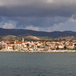 Lixouri: The marina with the town behind