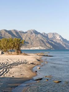 Kardamena: The beach looking north