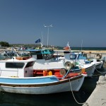 Mastichari: Fishing boats in the harbour