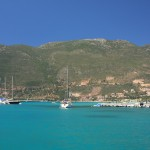 Vasiliki: A yacht leaving the harbour