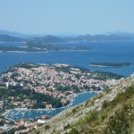 Dubrovnik / Gruz: The bottom of the port, with Kolocep, Lopud, Sipan and Mljet behind