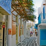 Mykonos: The narrow alley ways offer shopping opportunities galore
