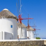 Mykonos: The windmills are just south of the old harbour