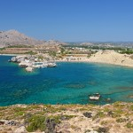Kolymbia: The small harbour and beach