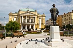 Rijeka: Kazalisni Park and Theatre, one of numerous impressive buildings in town
