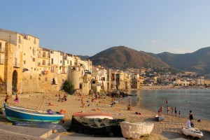 Cefalu: The old town and beach seems untouched by tourist developements