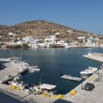 Sikinos Skala: It only takes a couple of yachts to fill the harbour but you can anchor
