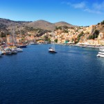 Symi Town: The inner harbour and town