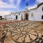 Tinos: Sea pebble mosaic at the Church of Panagia Megalochari (Virgin Mary)