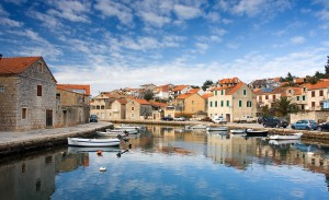 Vrboska: The canal through the town, known as Little Venice