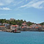 Uvala Luka: The harbour and small village