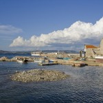 Uvala Luka: Fishing boats wait their next trip in this rather functional looking village