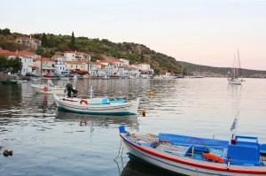 Yerakas: The quayside and village