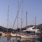 Datca: The quay extends beyond the bar area for those liking quieter nights