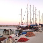 Palamut: Fishing boats and yachts share the quay