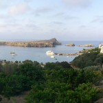 Lindos: The bay and town