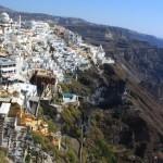 Santorini: Fira town overlooks the cauldron
