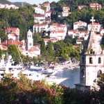 Cavtat: Motor boats on the quay