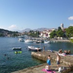 Cavtat: Swimming near the quay
