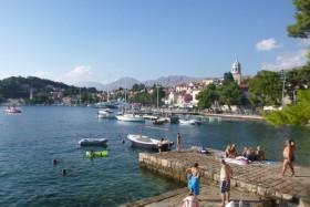 Cavtat: Swimming near the quay