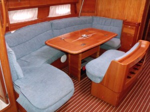 A lovely double berth, if you can get the table down