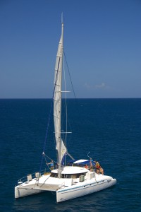 In case you're not sure what we're talking about....a typical charter catamaran