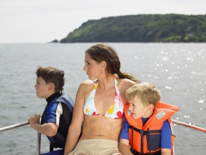 Mum had secretly hoped the kids would never be old enough for a yachting holiday!