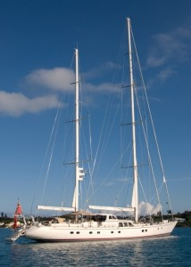 If you're not sailing yourself, you have the option of larger yachts