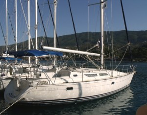 It's 17 years old but I'd charter it in preference to some newer yachts