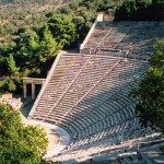 Epidavros: The amphitheatre has superb accoustics