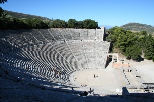 Epidavros: The Amphitheatre is in superb condition