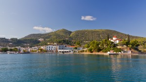 Palaia Epidavros: Harbour and town from the sea