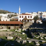 Bodrum: The Halicarnassus Mausoleum or Tomb of Mausolus in the centre of town