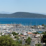 Bodrum: The Marina with harbour entrance behind