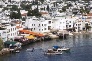 Bodrum: Sea front restaurants and boats