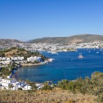 Bodrum: The bay with yachts at anchor, the Castle and harbour