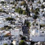 Bodrum: Aerial view over the streets of the town