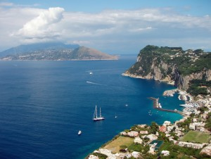 Capri: The Marina Grande at the foot of the mountains