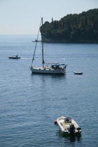 Kalami: Boats anchored in the bay